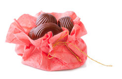 Chocolate Candies in Handmade Pack Royalty Free Stock Photos