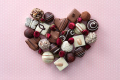 Chocolate candies heart Stock Photography