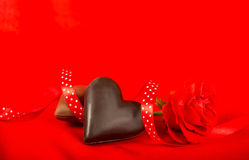 Chocolate candies in a heart shape Stock Photography