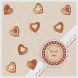 Chocolate candies. Hearts. Stock Images