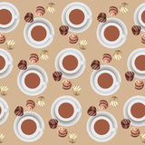 Chocolate candies and hot chocolate. Stock Photo