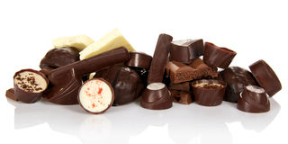 Chocolate candies isolated Royalty Free Stock Photo