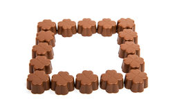 chocolate candies isolated Royalty Free Stock Photos
