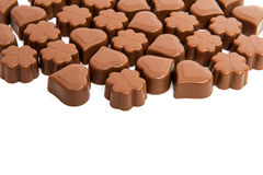 chocolate candies isolated Royalty Free Stock Image