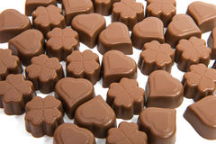 chocolate candies isolated Stock Photography