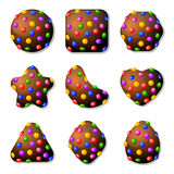 Chocolate Candies For Match Three Game Royalty Free Stock Photos