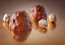 Chocolate candies with peanuts Royalty Free Stock Photography