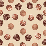 Chocolate candies. Seamless pattern. Royalty Free Stock Photos