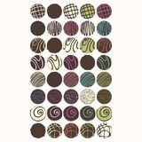 Chocolate candies. Set of vector illustrations for design Royalty Free Stock Image