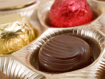 Chocolate Candies. Shot from above Royalty Free Stock Image