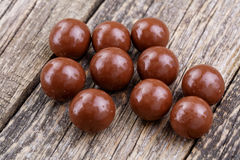 Chocolate candies on a white background. Stock Photo