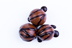 Chocolate candies on a white background. Royalty Free Stock Images