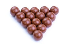 Chocolate candies on a white background. Stock Images