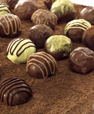 Chocolate candy. Composition made by chocolate candy Royalty Free Stock Photography