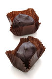 Chocolate Candy. Over White royalty free stock images