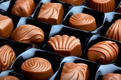 Chocolate candy. Close up photo of chocolate candy Stock Photography