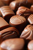 Chocolate candy. Close up photo of chocolate candy Royalty Free Stock Images