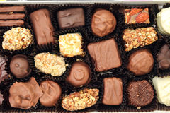 Chocolate candy. In the box Royalty Free Stock Photography