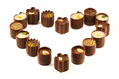 Chocolate candy assortment Royalty Free Stock Image