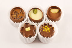 Chocolate candy assortment stock photo