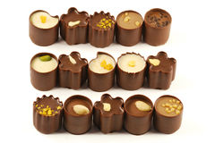 Chocolate candy assortment Stock Image