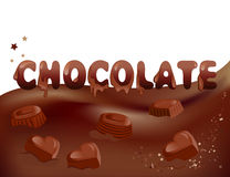 Chocolate and candy background Stock Images