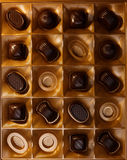 Chocolate candy. On a black background. macro shooting Stock Image