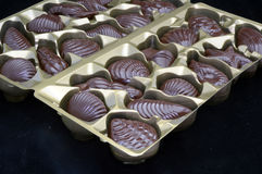 Chocolate candy on black velvet background Stock Photography