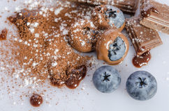 Chocolate candy with blueberry Stock Photography