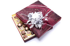 Chocolate Candy Box. Isolated white background Stock Images