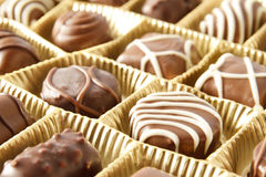 Chocolate candy box. Close up royalty free stock photography