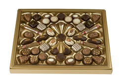 Chocolate candy box over white with clipping path. Royalty Free Stock Photos