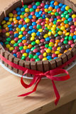 Chocolate candy cake Royalty Free Stock Images