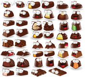 Chocolate candy character collection stock illustration