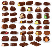 Chocolate candy collection. There are many chocolate candy Royalty Free Stock Image