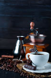Chocolate candy with cup of coffee Royalty Free Stock Photos