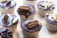 Chocolate Candy  Cupcakes Stock Image