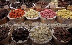 Chocolate candy on display Stock Photo