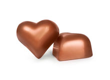 Chocolate candy. In the form of heart Royalty Free Stock Photography