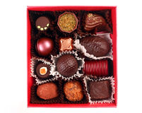 Chocolate candy group Royalty Free Stock Image