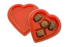 Chocolate Candy in Heart Shape Box Royalty Free Stock Photo
