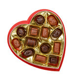 Chocolate candy in a heart shaped box Stock Photography