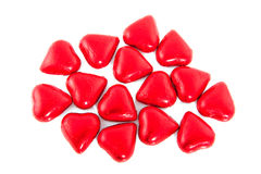 Chocolate candy hearts Stock Photos