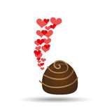 chocolate candy hearts dessert icon Stock Photography