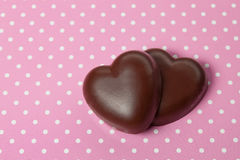 Chocolate candy hearts Stock Photography