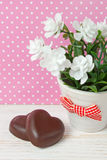 Chocolate candy hearts Royalty Free Stock Photos
