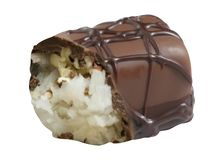 Chocolate candy isolated royalty free stock image