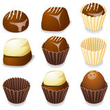 Chocolate candy isolated vector illustration. Stock Photos