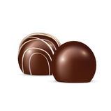 Chocolate candy isolated on white Stock Images