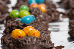 Chocolate candy with jelly beans Stock Image